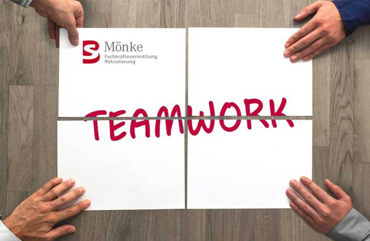 Teamwork in der Personaldienstleistung bei BS Mönke