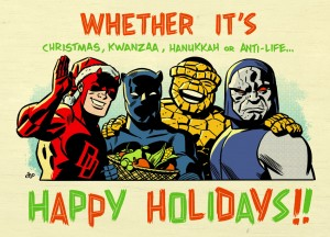 michael-cho-a-kirby-christmas-dare-devil-super-hero-holiday-kwanzaa-hanukkah-anti-life