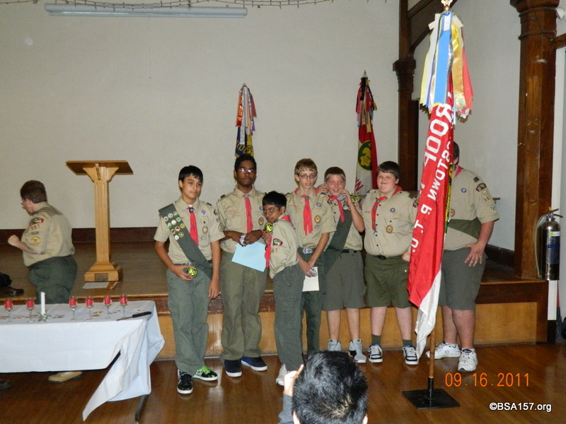 Troop: Court of Awards September 2011