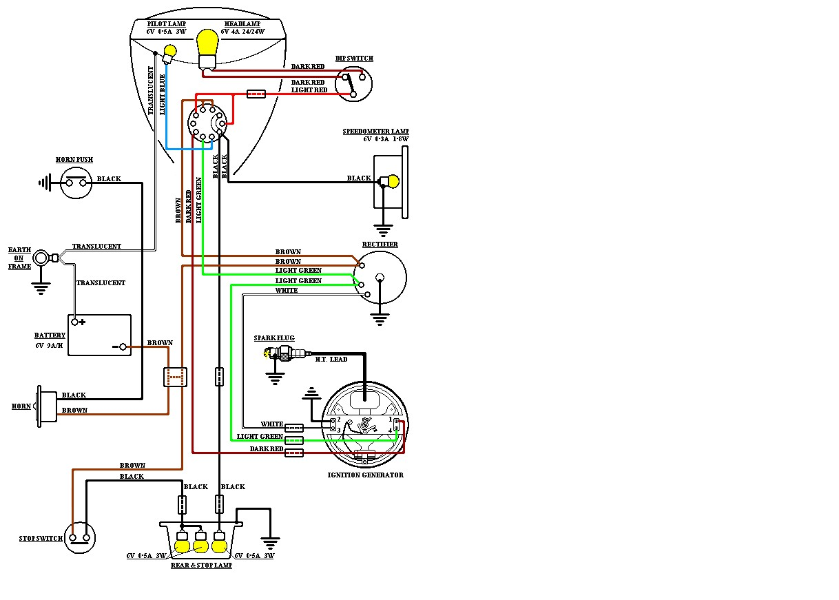 hight resolution of charging and main lighting issues bantam technical discussion bsa bantam lighting coil wiring