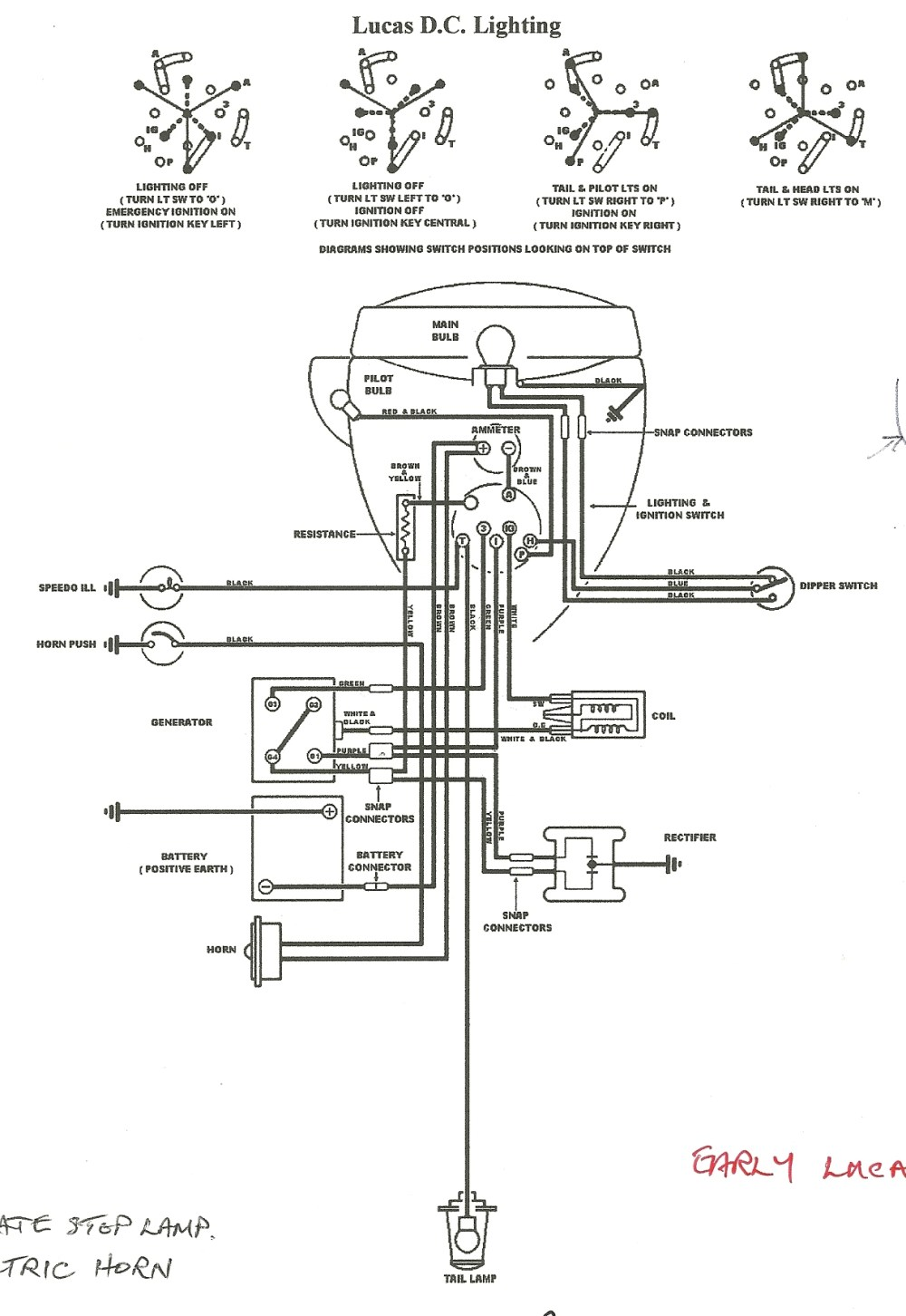 medium resolution of bantam d wiring diagram wiring diagram images wiring early lucas circuit modern rectifier and early lucas