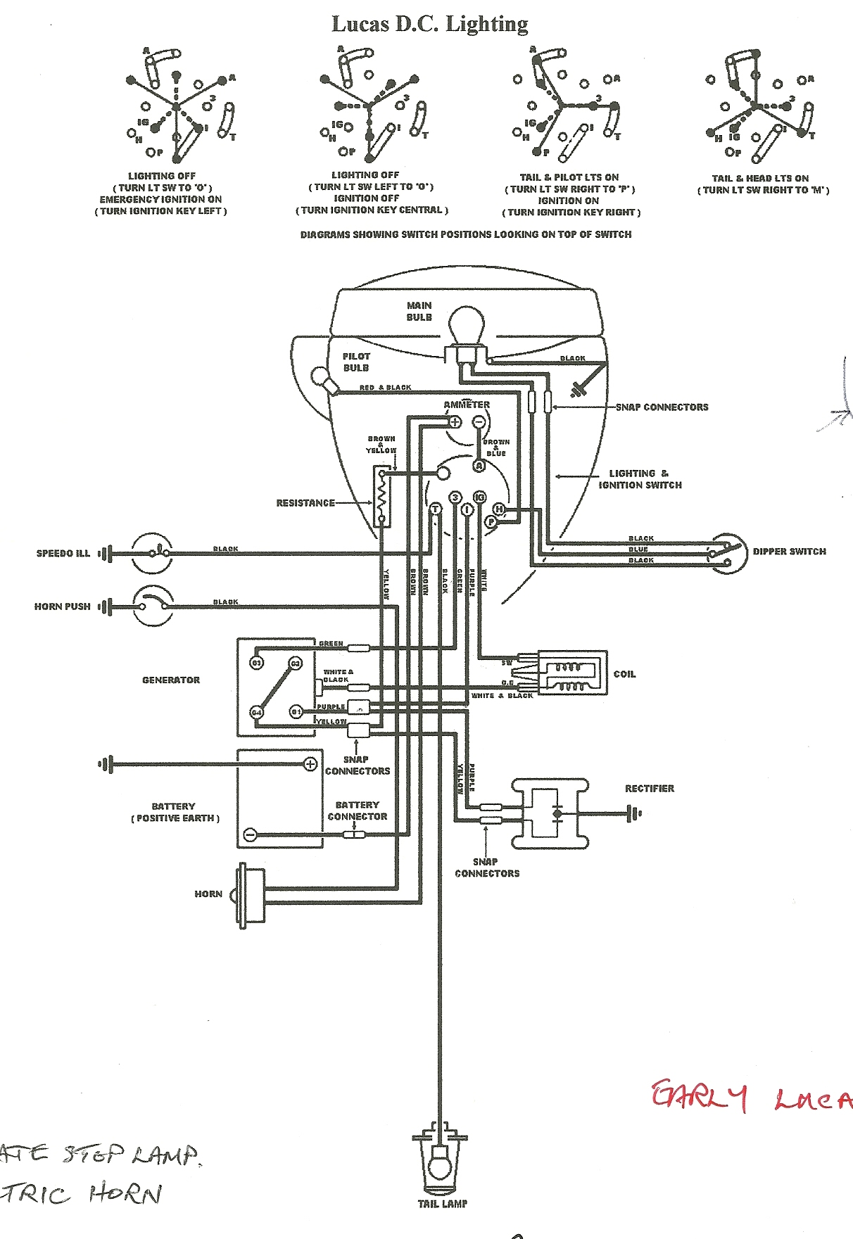 hight resolution of bantam d wiring diagram wiring diagram images wiring early lucas circuit modern rectifier and early lucas
