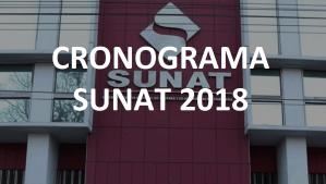 Cronograma Anual de SUNAT para el año 2018