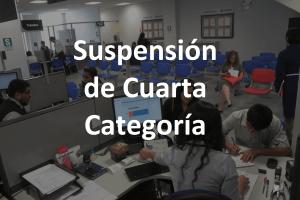 La suspensión de 4ta Categoría para el 2018.