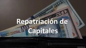 Régimen de Repatriación de Capitales