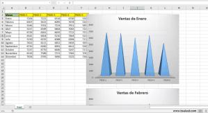 EXCEL: Creación de un gráfico por mes usando FOR – NEXT