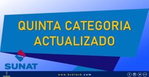 Plantilla para calculo de renta de quinta categoría actualizado