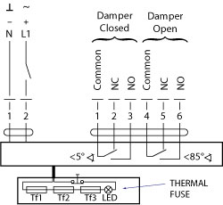 actuator wiring diagram dodge dakota 1992 bsb fsd td series fire and smoke dampers electrical specifications