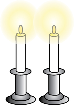 candle lighting times