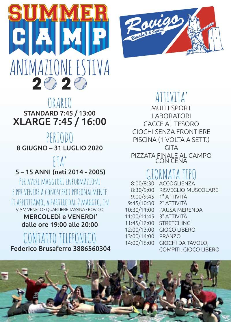 Volantino Summer Camp 2020