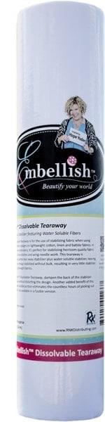 "Embellish Dissolvable Tearaway 12"" x 10 yd - Designs by Hope Yoder"