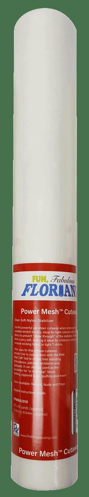 "Floriani Power Mesh Cutaway Natural 20""x10yds Stabilizer"