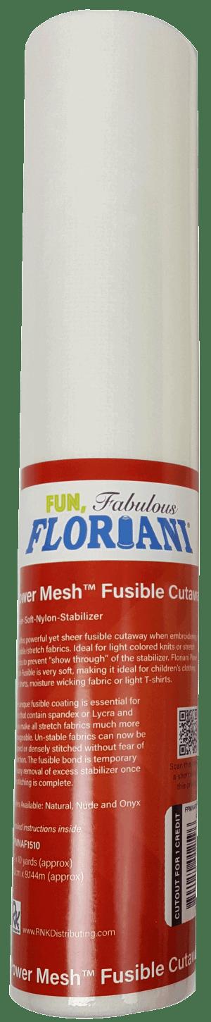 """FlorianI Power Mesh Fusible Cutaway 15""""x10yds"""