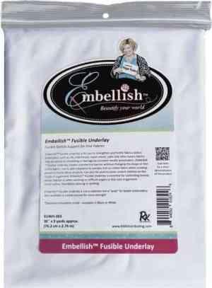 "Embellish Fusible Underlay 30"" x 3 yd - Black - Designs by Hope Yoder"