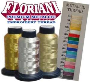 Floriani Premium Metallic Thread - Embroidery Thread - 3000 meters