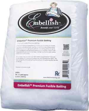 "Embellish Premium Fusible Batting 60"" x 1 yd - Designs by Hope Yoder"
