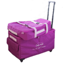 Baby Lock Extra Large Trolley Bag Set- Pink Limited Edition - Sewing and Embroidery Machine Trolley