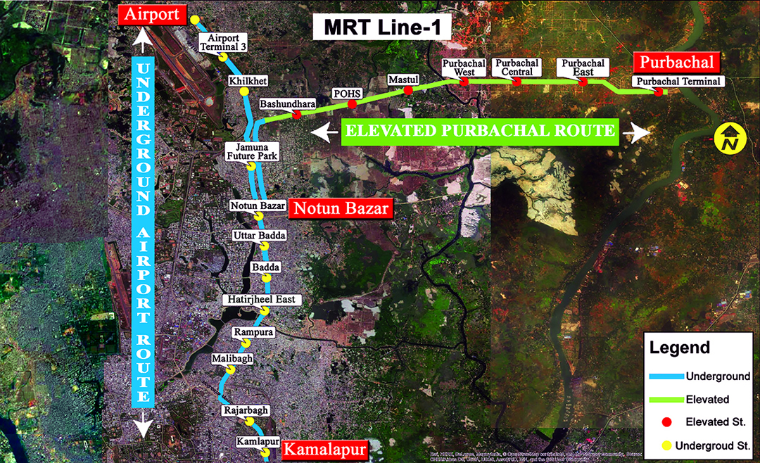 MRT Line-1 Route Map