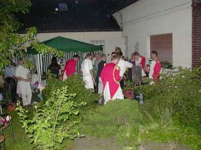 Schützenfest 2000: Feier im Garten
