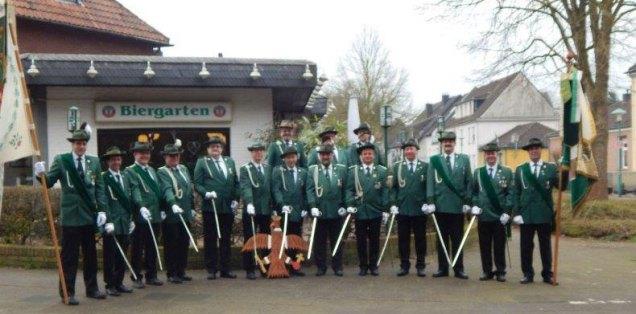 Offiziere Gruppenfoto am Waldhof