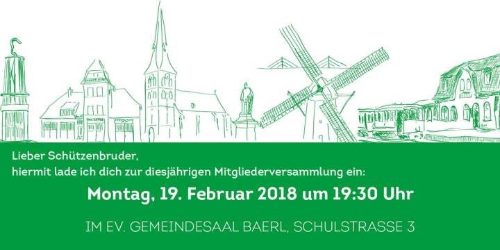 Mitgliederversammlung am 19. Februar 2018