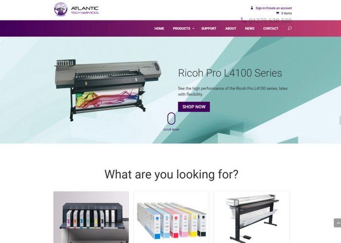 Atlantic launch E-Commerce Web Site