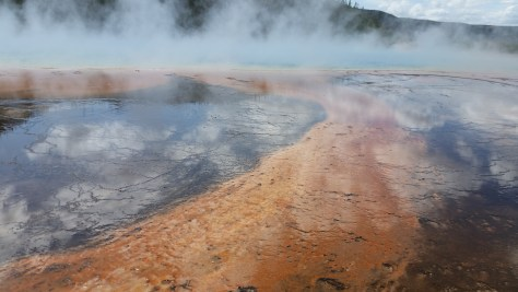 The edge of the Grand Prismatic Spring