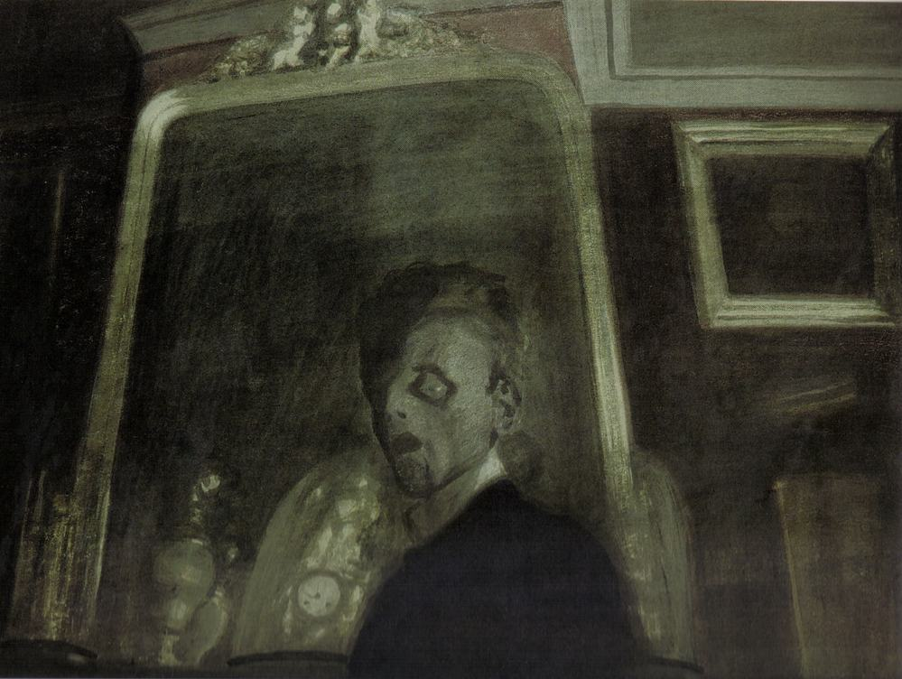 Léon Spilliaert: Autoritratto allo specchio (1908)