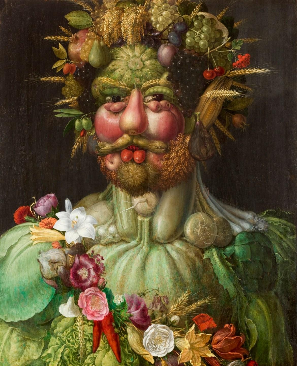"""Giuseppe Arcimboldi """"Ritratto di Rodolfo II in veste di Vertumno"""" – 1591"""