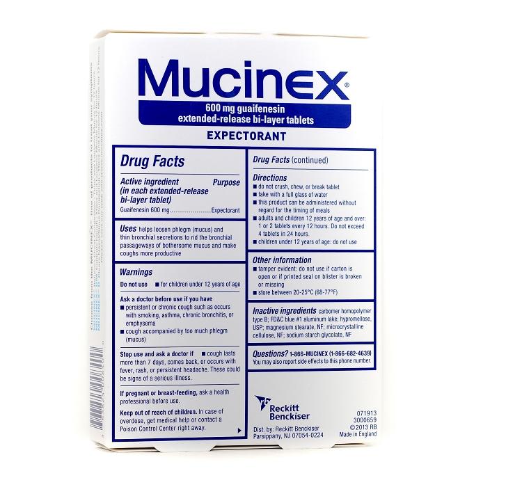 Mucinex Tablet Expectorant 600 mg 40Box