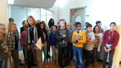 rondleiding op het Rijnlands Lyceum