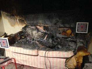 foto brand in huiskamer