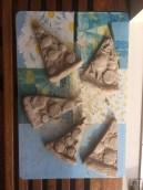Pizzastukjes van klei