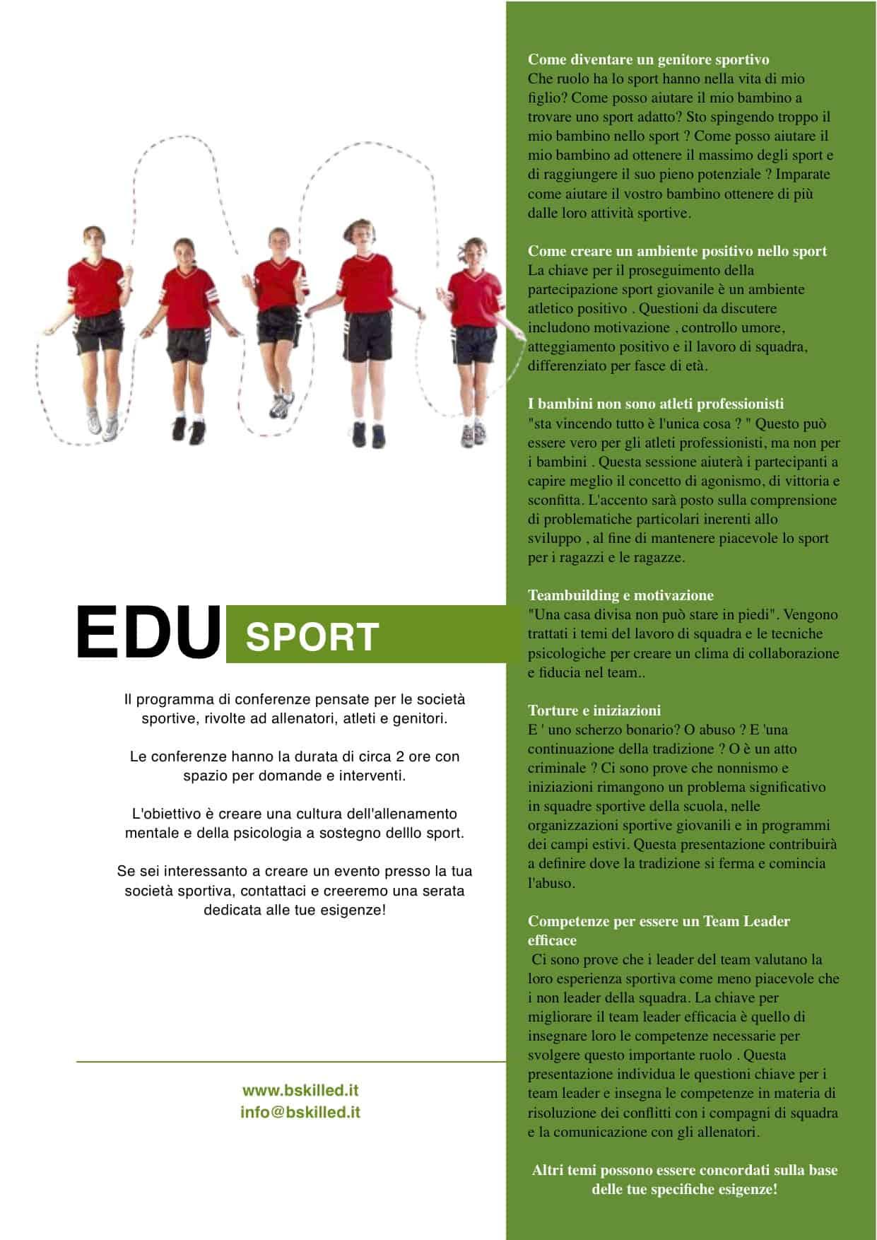 BSKILLED - Psicologia dello sport e della performance Serate a tema sulla psicologia dello sport società sportive serate a tema psicologia sportiva psicologia dello sport educazione allo sport conferenze allenamento mentale
