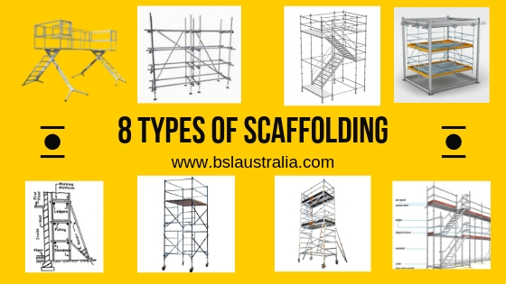 8 types of scaffolding