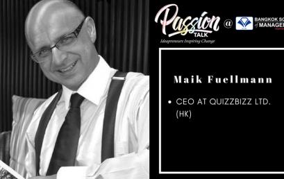 Date: April 24thPassion Talk – Ideapreuners Inspiring Change Serial Events:  Meet Maik Fuellmann