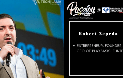 Date: May 8th  Passion Talk – Ideapreneurs Inspiring Change Serial Events: Meet Robert Zepeda – entrepreneur, founder, and CEO of Playbasis: FunTech