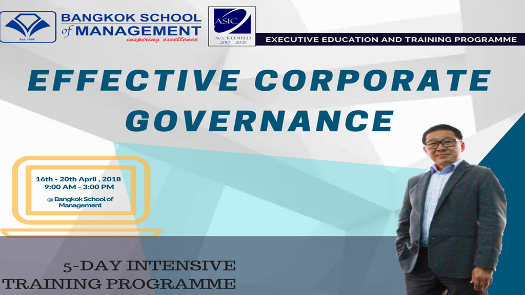 Date: April 16th – 20th EFFECTIVE CORPORATE GOVERNANCE