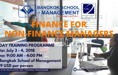 Date: July 3rd-4th   Finance For Non-Finance Managers