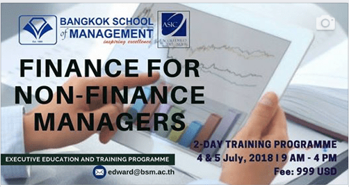 Date: July 4th-5th   Finance For Non-Finance Managers