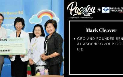 Date: July 11th  Passion Talk – Ideapreneurs Inspiring Change Serial Events:Meet Mark Cleaver CEO and Founder Sendit at Ascend Group Co., Ltd