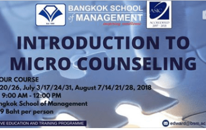 Date: June 20th – August 28th Introduction to Micro Counseling