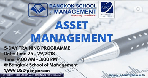 Date: June 25th-29th 2018<br></br> Asset Management