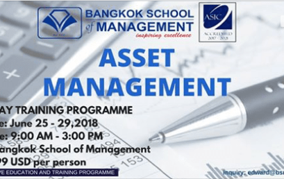 Date: June 25th-29th 2018 Asset Management
