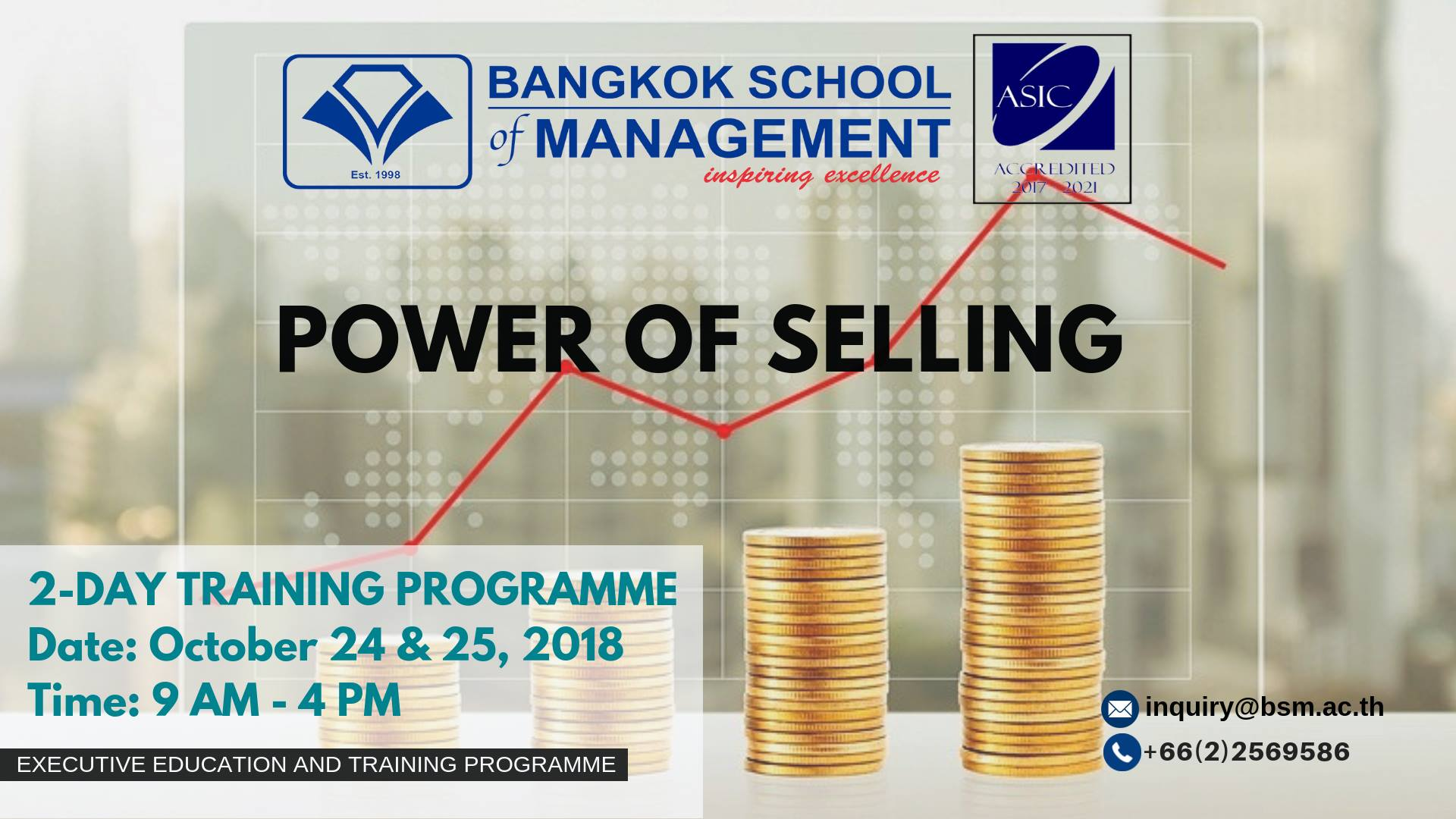Date: October 24 &#8211; 25 </br><br>Power of Selling