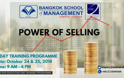 Date: October 24 – 25 Power of Selling