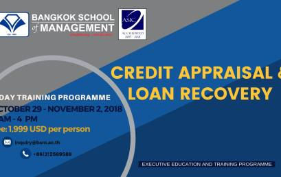 Date: October 29 – November 2  Credit Appraisal & Loan Recovery