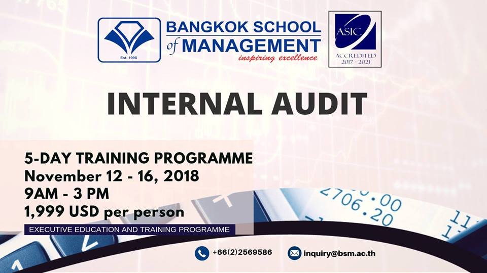 Date: November 12 &#8211; 16 <br></br> Internal Audit
