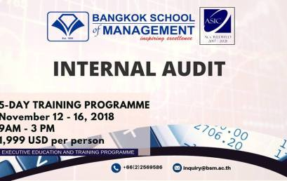 Date: November 12 – 16  Internal Audit