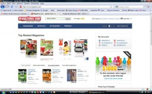 Interatividade e Flash para ver as revistas